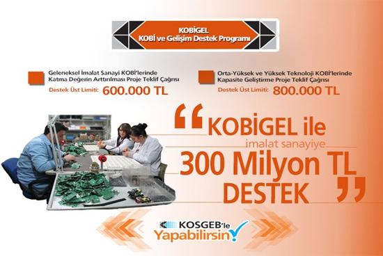 Kosgeb Yeni Desteği KOBİGEL ile 300 Milyon Lira'lık Destek