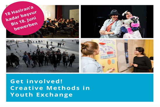 Get involved Creative Methods in Youth Exchange