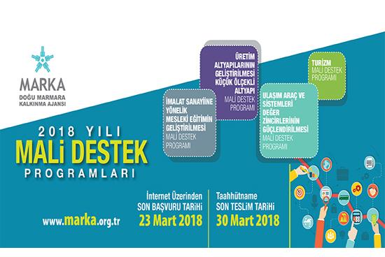 Doğu Marmara Kalkınma Ajansı MARKA Mali Destek Programları Yayımlandı