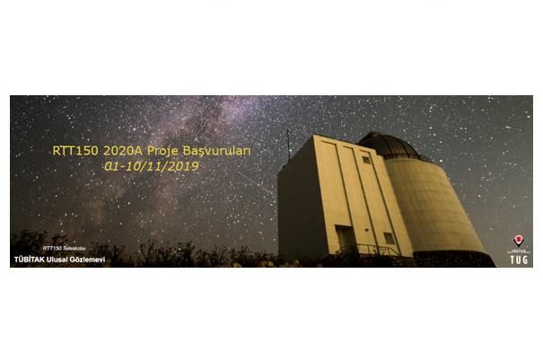 RTT150 Teleskobu 2020A Dönemi Proje Başvuruları