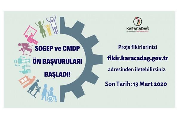 Karacadağ Kalkınma Ajansı SOGEP ve CMDP Ön Başvuruları Başladı