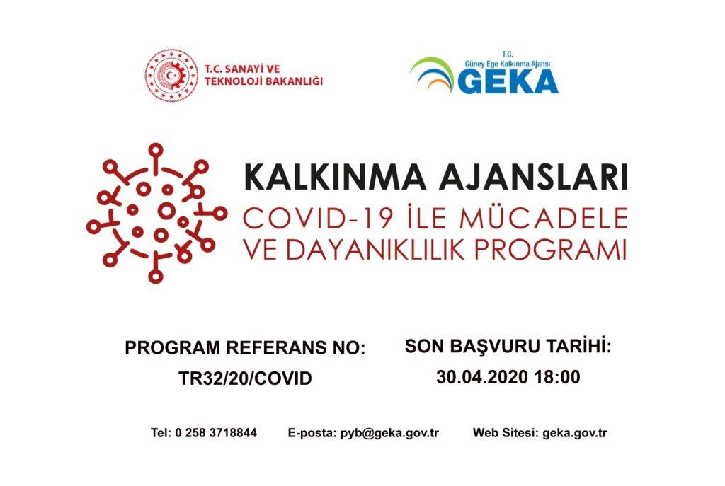 GEKA COVID-19 ile Mücadele ve Dayanıklılık Destek Programı ilan edilmiştir