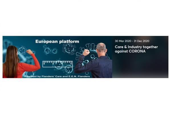 Koronavirüsüne Karşı Bakım ve Endüstri Birlikte Avrupa Sanal Proje Pazarı Platformu Açıldı