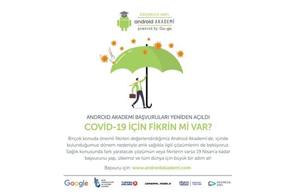 """Android Akademi """"COVID-19 için Fikrin mi Var?"""" Başvuruları Açıldı"""