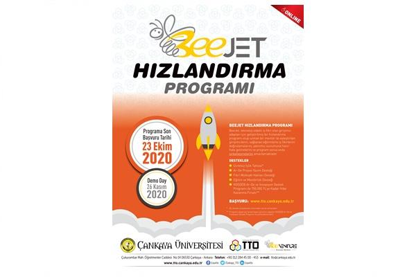 Çankaya Üniversitesi 2020 yılı BeeJet Hızlandırma Programı