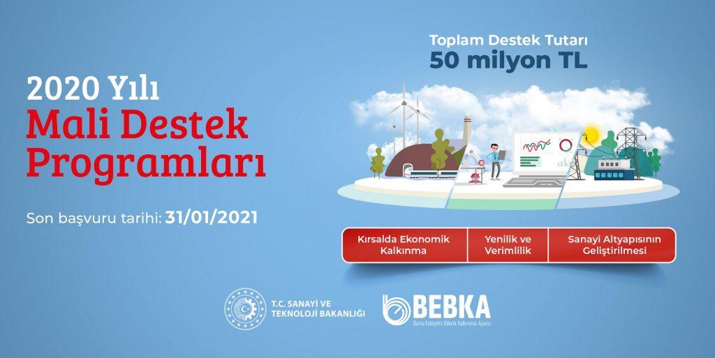 BEBKA 2020 yılı Mali Destek Programları